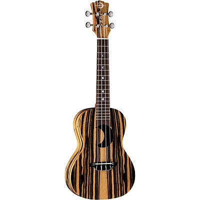 Luna Guitars Crescent Black/White Ebony Concert Ukulele