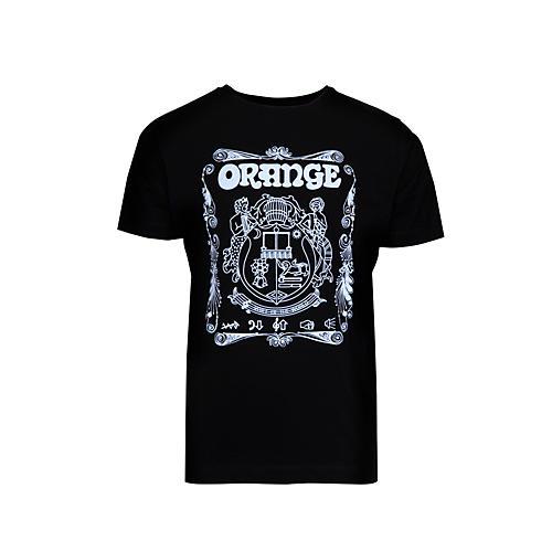 Orange Amplifiers Crest T-Shirt Black X Large