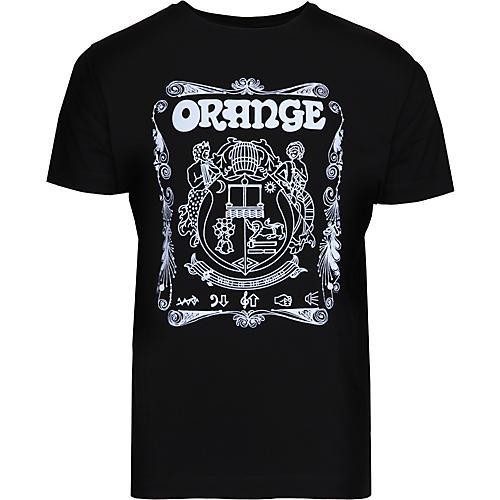 Orange Amplifiers Crest T-Shirt Black XXX Large