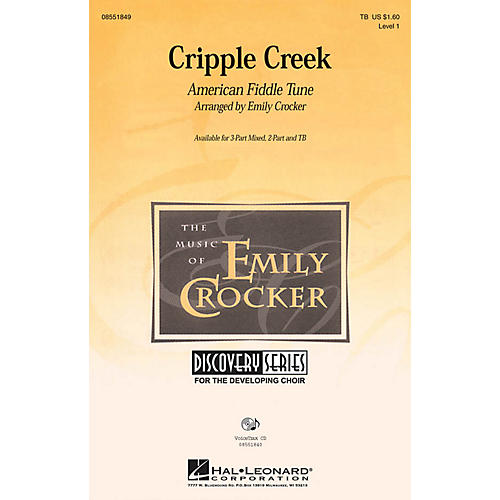 Hal Leonard Cripple Creek 3-Part Mixed arranged by Emily Crocker