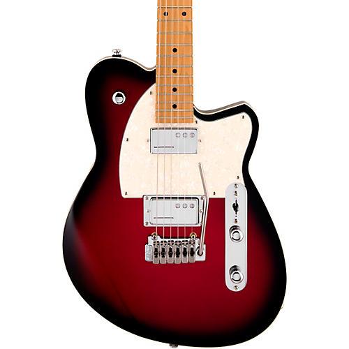Reverend Crosscut W Roasted Maple Fingerboard Electric Guitar Metallic Red Burst