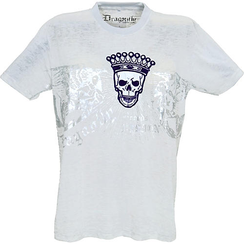 Dragonfly Clothing Crowned Skull Burnout Men's T-Shirt