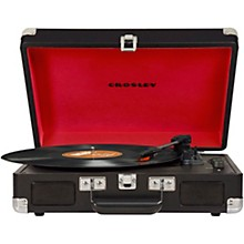 Cruiser Deluxe Portable Turntable Vinyl Record Player with Built-in Speaker Black