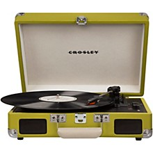Cruiser Deluxe Portable Turntable Vinyl Record Player with Built-in Speaker Green