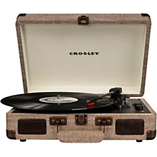 Cruiser Deluxe Portable Turntable Vinyl Record Player with Built-in Speaker Havana