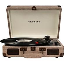 Cruiser Deluxe Portable Turntable Vinyl Record Player with Built-in Speaker Havana