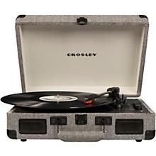 Cruiser Deluxe Portable Turntable Vinyl Record Player with Built-in Speaker Herringbone