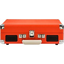 Cruiser Deluxe Portable Turntable Vinyl Record Player with Built-in Speaker Orange