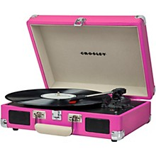 Cruiser Deluxe Portable Turntable Vinyl Record Player with Built-in Speaker Pink