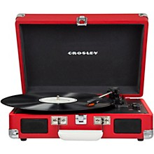 Cruiser Deluxe Portable Turntable Vinyl Record Player with Built-in Speaker Red