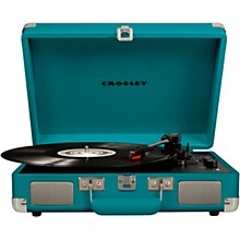 Cruiser Deluxe Portable Turntable Vinyl Record Player with Built-in Speaker Teal