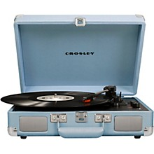 Cruiser Deluxe Portable Turntable Vinyl Record Player with Built-in Speaker Tourmaline