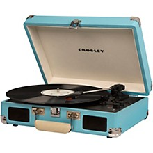 Cruiser Deluxe Portable Turntable Vinyl Record Player with Built-in Speaker Turquoise