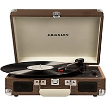 Cruiser Deluxe Portable Turntable Vinyl Record Player with Built-in Speaker Tweed