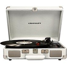 Cruiser Deluxe Portable Turntable Vinyl Record Player with Built-in Speaker White sand