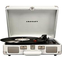 Cruiser Deluxe Portable Turntable Vinyl Record Player with Built-in Speaker White sand