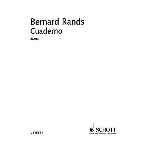 Schott Cuaderno Schott Series Softcover Composed by Bernard Rands