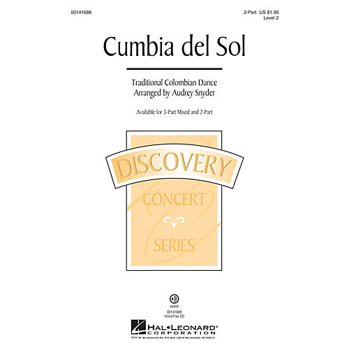 Hal Leonard Cumbia del Sol (Discovery Level 2) 2-Part arranged by Audrey Snyder
