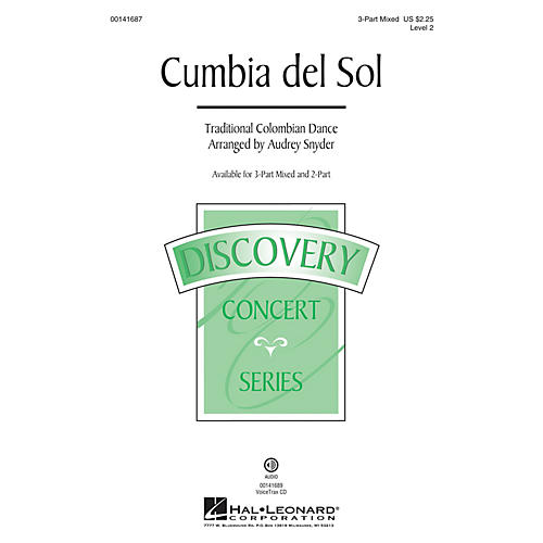 Hal Leonard Cumbia del Sol (Discovery Level 2) 3-Part Mixed arranged by Audrey Snyder