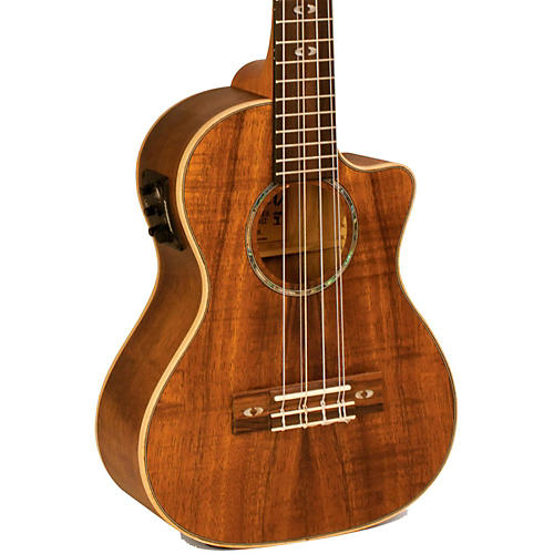Lanikai Curly Koa Series CK-6EK 6-String Tenor Ukulele with Fishman Kula Electronics