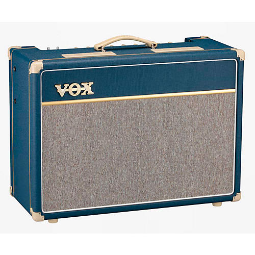 Vox Custom AC15C2-BL 15W 1x12 Limited Edition Blue Tube Guitar Combo Amp