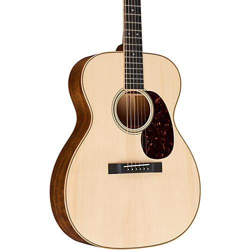 Martin Custom Auditorium Quilted Mahogany with Quilted Maple Swivel Wedge Deluxe Natural