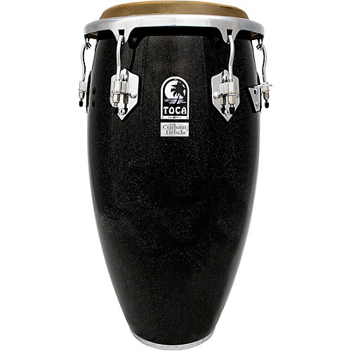 Toca Custom Deluxe Wood Shell Congas 12.50 in. Black Sparkle