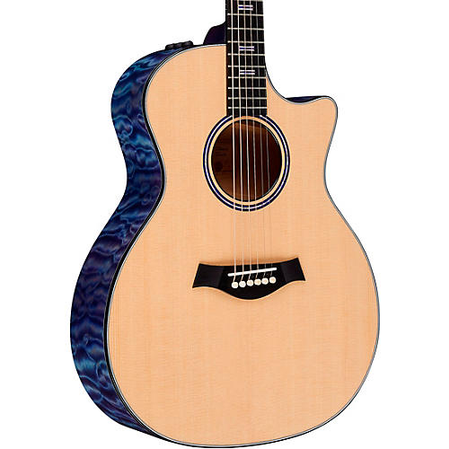 Taylor Custom Grand Auditorium #11152 Sitka Spruce and AA-Quilted Maple Acoustic-Electric Guitar Transparent Purple