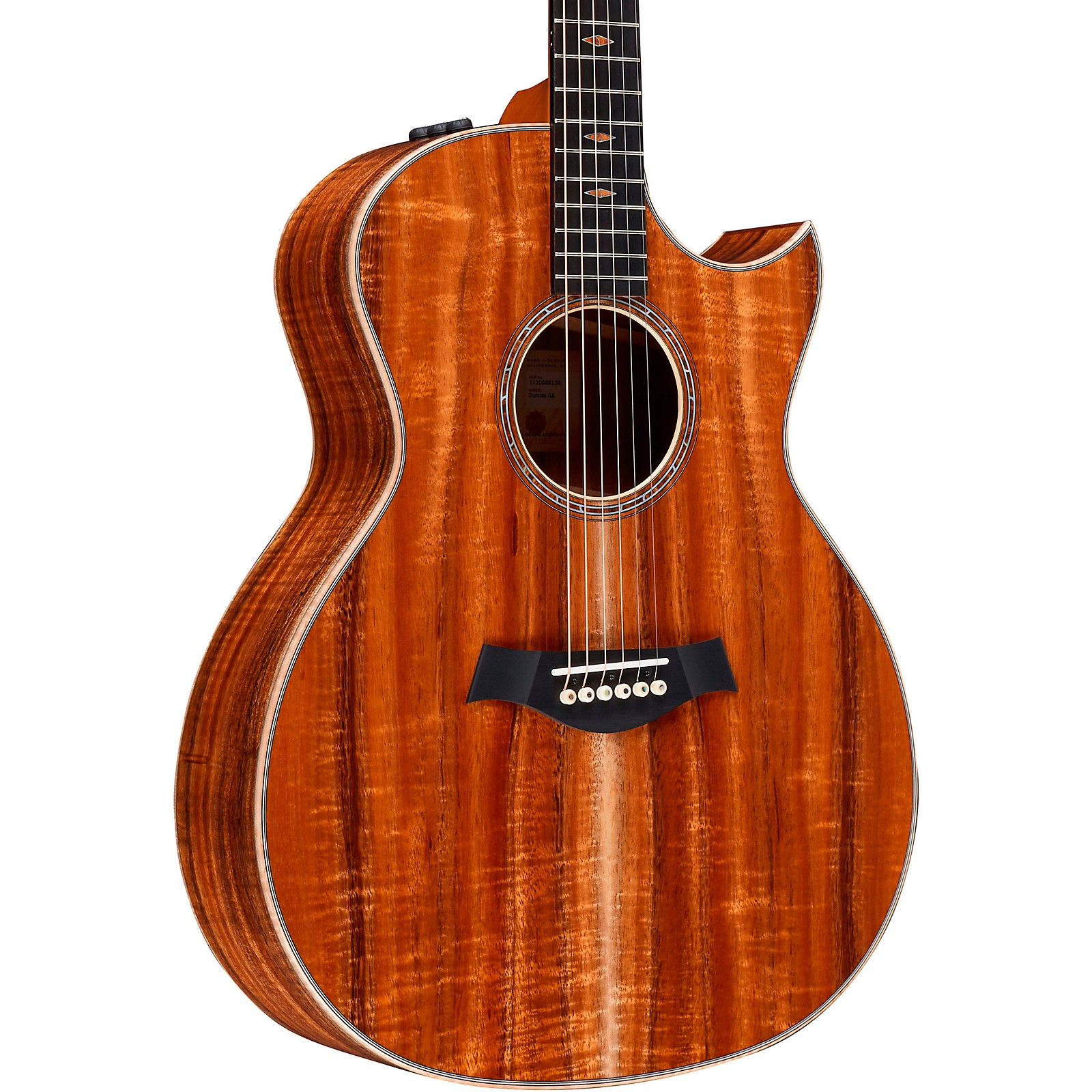 Taylor Custom Grand Auditorium V-Class #11161 Figured AA-Grade Koa Acoustic-Electric Guitar