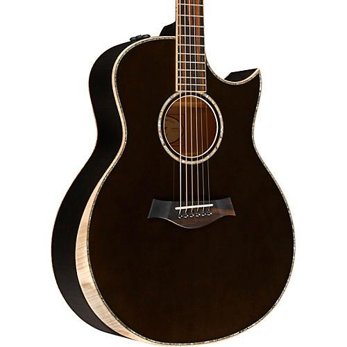 taylor custom grand symphony 10580 acoustic electric guitar transparent black musician 39 s friend. Black Bedroom Furniture Sets. Home Design Ideas