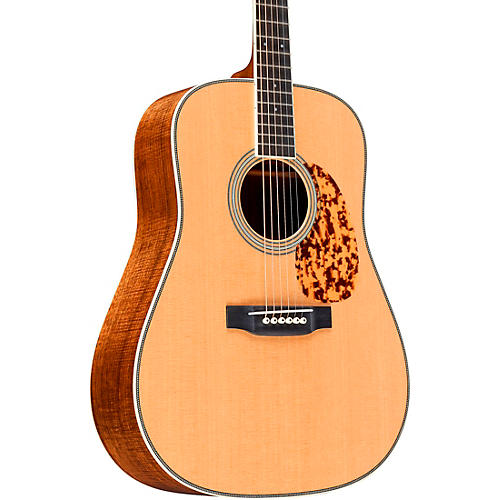 Martin Custom Highly Flamed Koa Dreadnought Acoustic Guitar Natural