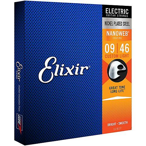 Elixir Custom Light Nanoweb Electric Guitar Strings 2-Pack