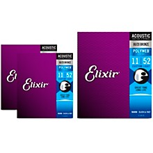 Elixir Custom Light Polyweb Acoustic Guitar Strings 3 Pack