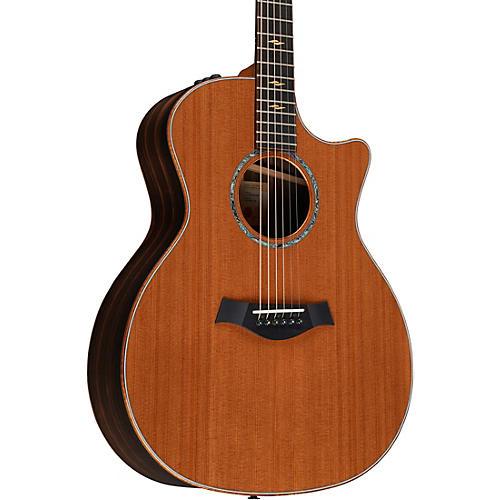 Taylor Custom Macassar Ebony Grand Auditorium Acoustic Electric Guitar Natural