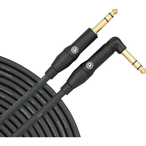 D'Addario Planet Waves Custom Pro Stereo Right Angle Instrument Cable