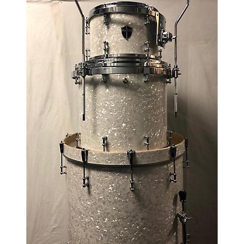 Truth Custom Drums Custom Shel Pack Drum Kit white marine pearl