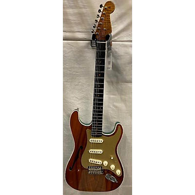 Fender Custom Shop Artisan Semi Hollow Koa Strat Hollow Body Electric Guitar