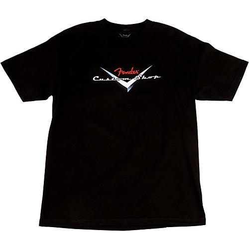Fender Custom Shop Original Logo T-Shirt Black Small