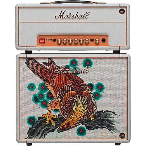 Marshall Custom Tattoo Tutti Serra Stack JVM-1H 1W Tube Guitar Head and 1x10 Cab