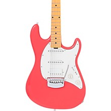 Cutlass HSS Maple Fretboard Electric Guitar Coral Red Parchment Pickguard