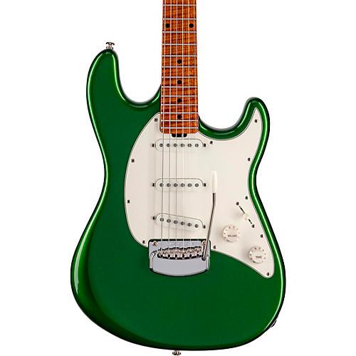 Ernie Ball Music Man Cutlass SSS Electric Guitar Charging Green