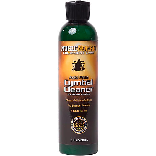 Music Nomad Cymbal Cleaner - Acid-Free Cleaner, Polisher, Protectant for Brilliant Finishes