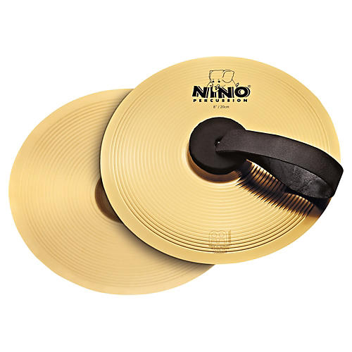 Nino Cymbal Pair Brass 8 in.