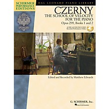 G. Schirmer Czerny - The School of Velocity for the Piano Op 299 Books 1 and 2 Schirmer Perf Ed BK/Audio Online