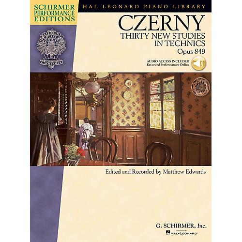 G. Schirmer Czerny - Thirty New Studies in Technics, Op. 849 Schirmer Performance Edition BK/Audio Online