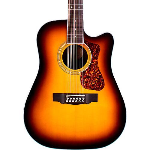 Guild D-2612CE Deluxe 12-String Cutaway Acoustic-Electric Guitar Antique Sunburst