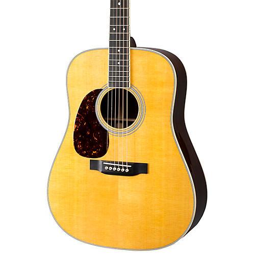 Martin D-35 Left-Handed Dreadnought Acoustic Guitar Natural
