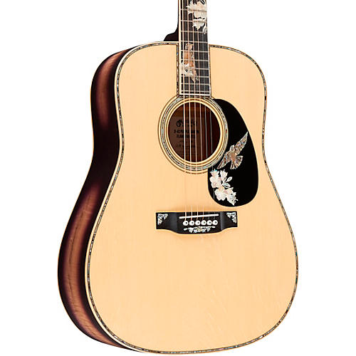 Martin D-42 Purple Martin Limited-Edition Flamed Myrtle Dreadnought Acoustic Guitar Natural
