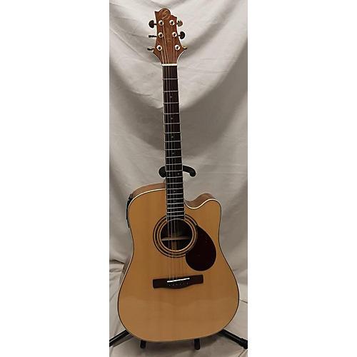 Greg Bennett Design by Samick D-6ce Acoustic Electric Guitar Natural