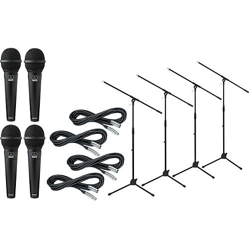 AKG D 9000 with Cable and Stand 4 Pack